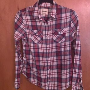 Roots button up plaid shirt size S